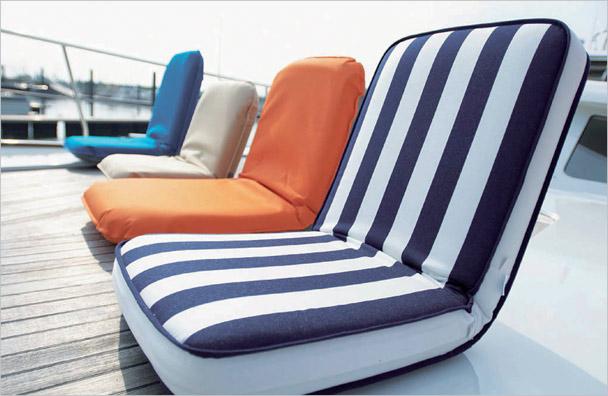vikbar stol båt