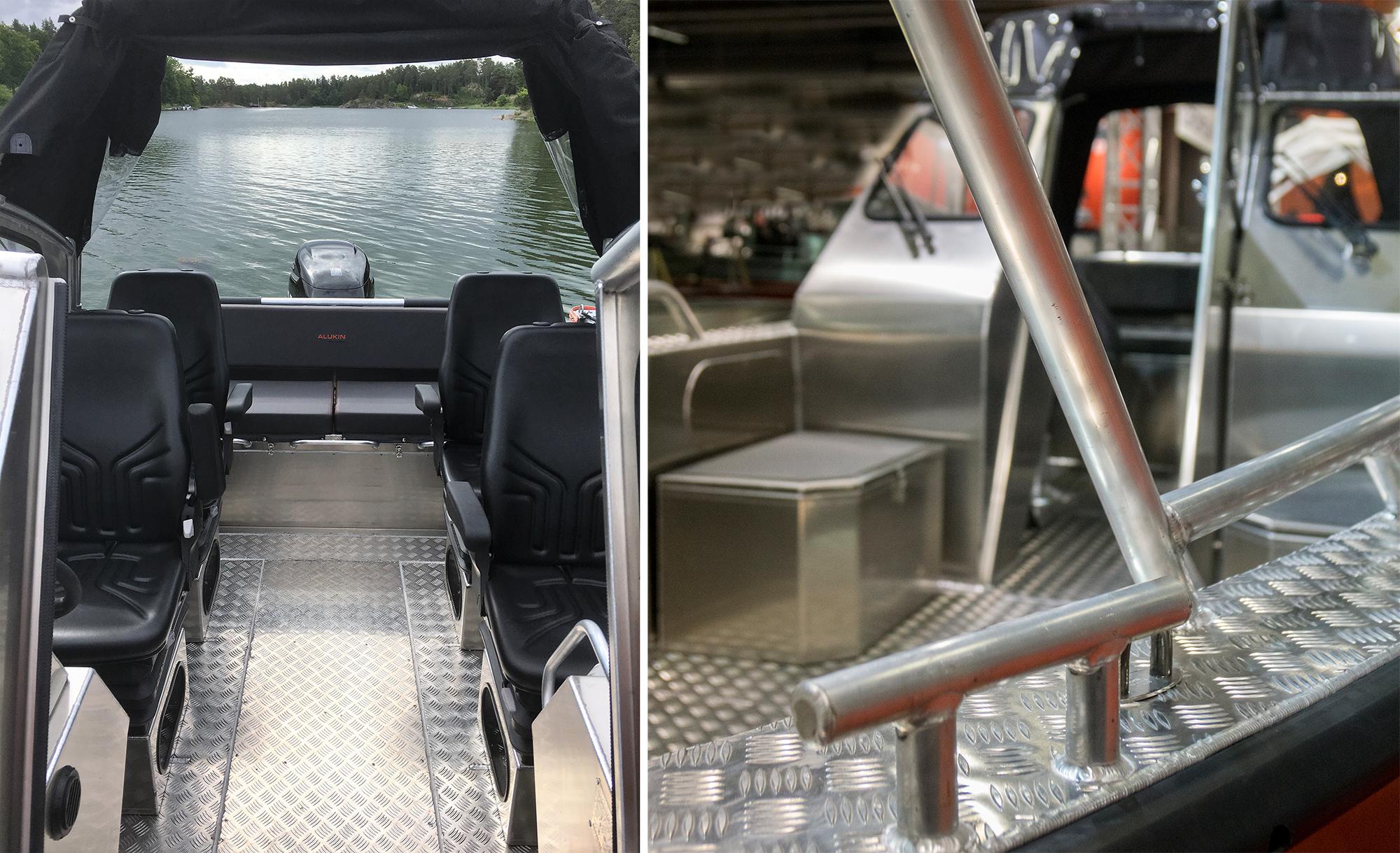 plast eller aluminiumbåt