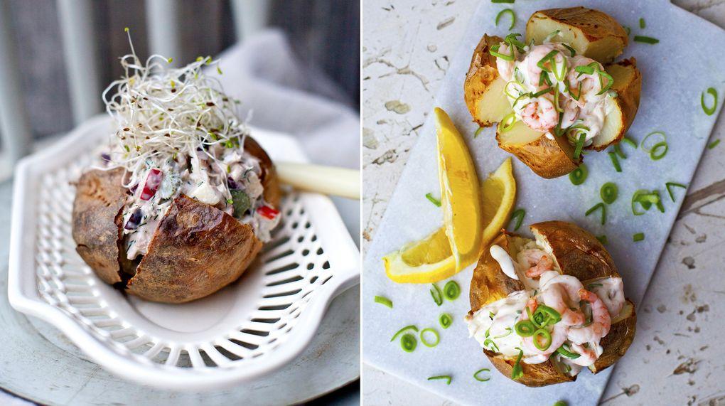 recept bakad potatis fyllning