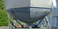 Rejäl segelbåtstrailer med 4 dubbla hjul