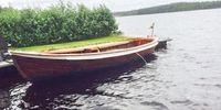 Mahognysnipa. Träbåt, öppen.