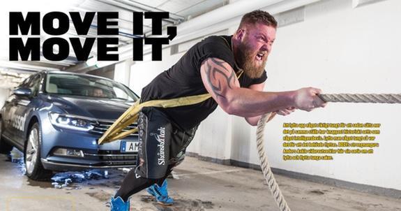 Svensk strongman på Eurosport
