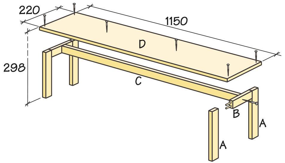 Bygg en lättplacerad bänk Hus& Hem