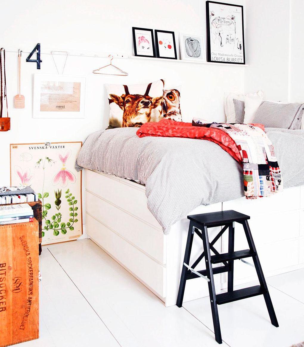 Förvaring och säng i ett u2013 bygg ett sovloft på byråer Hus& Hem