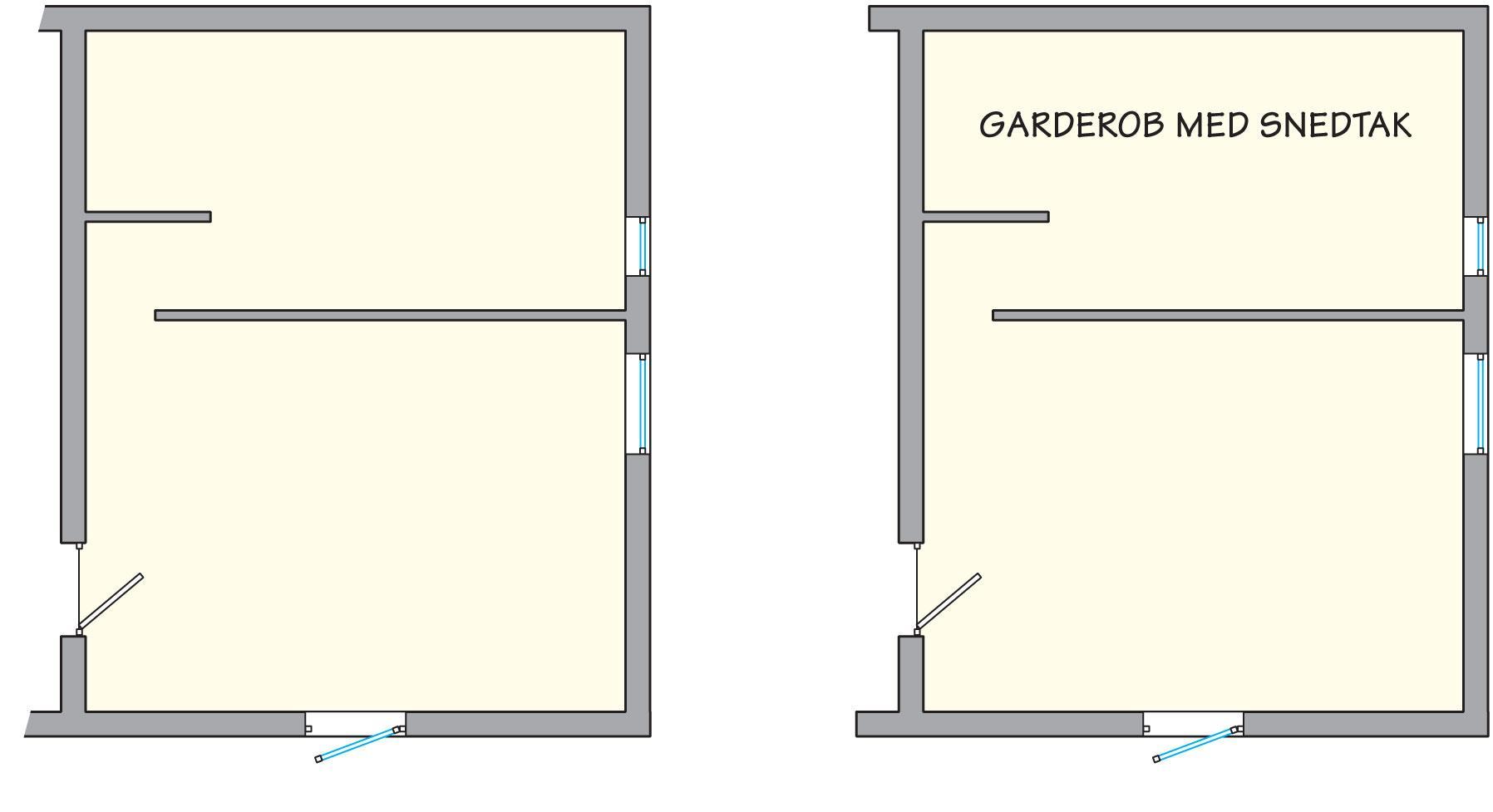 Bygga Garderob Snedtak Garderob Mtt Bara Mia B Hylla Under Snedtak Med Vikdrrar Objektnr
