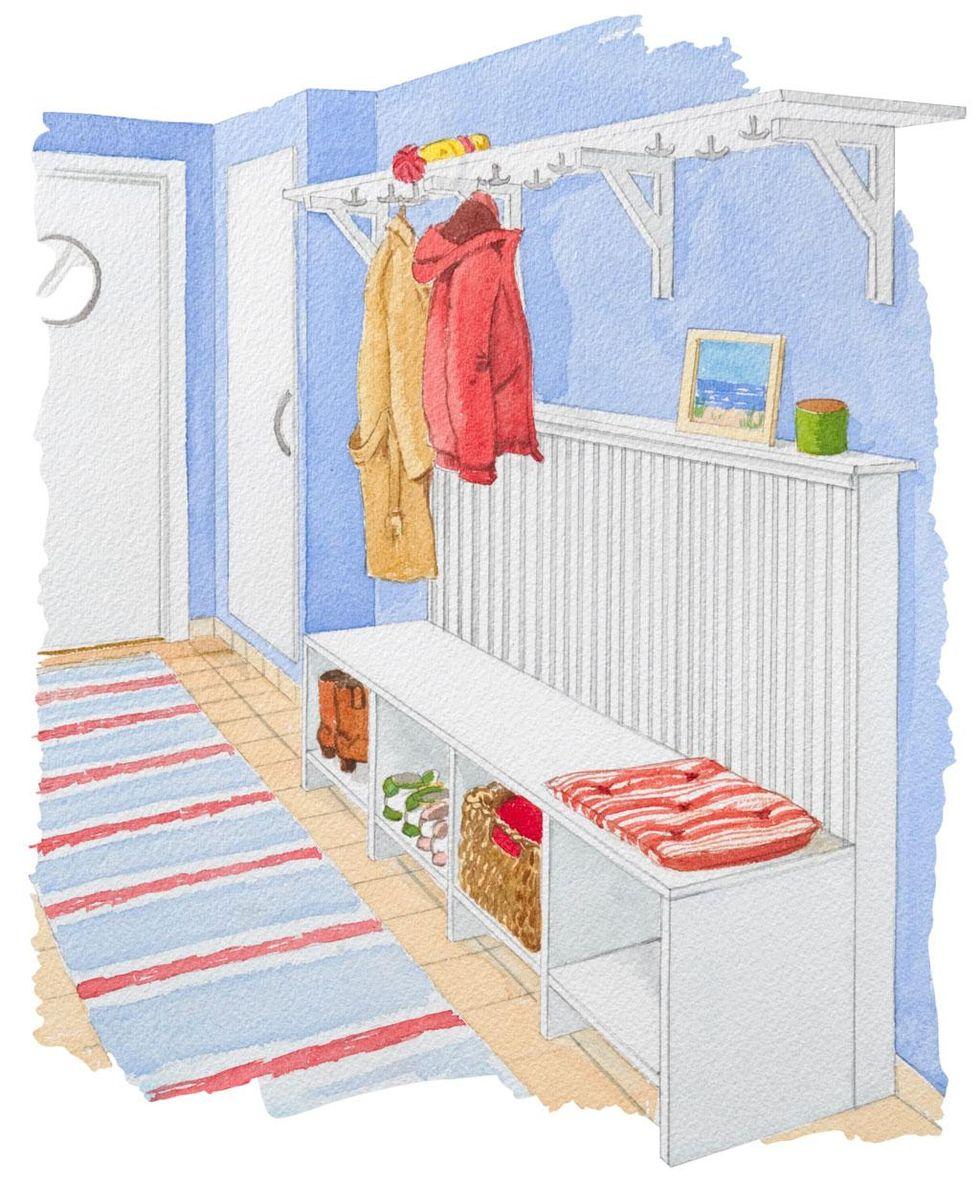 Inredning elementskydd : Bygg bänk och elementskydd i ett – Hus & Hem