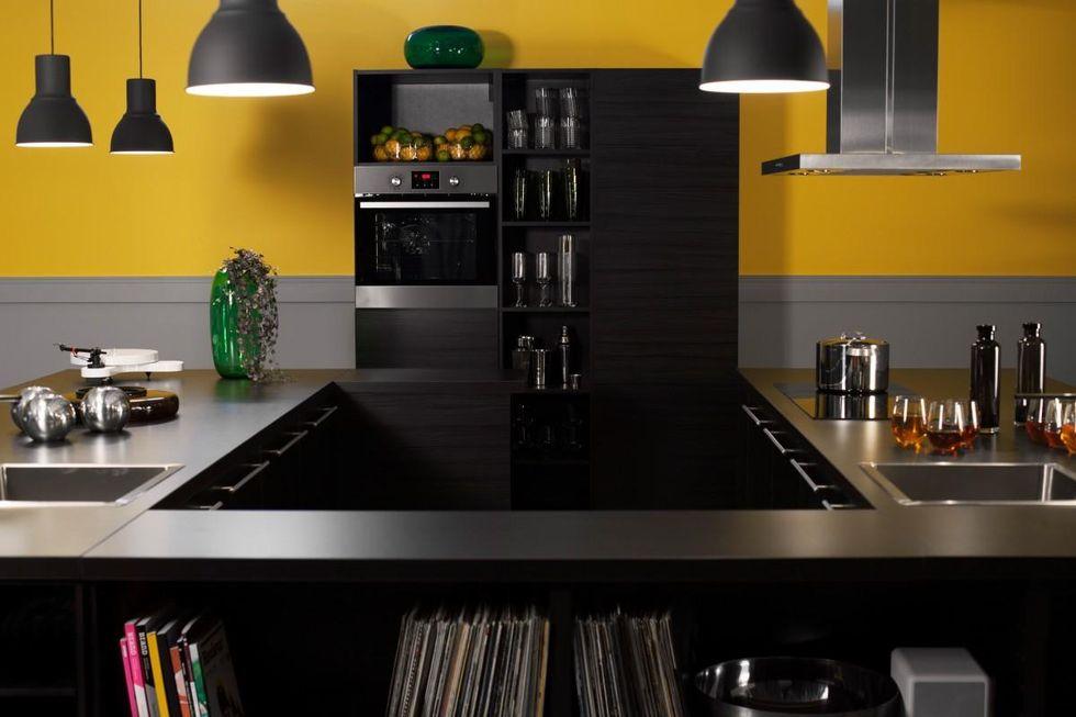 Metod Kokso Ikea :   En kokso uppbyggd po de nya modulerna i Metod, hor med luckan