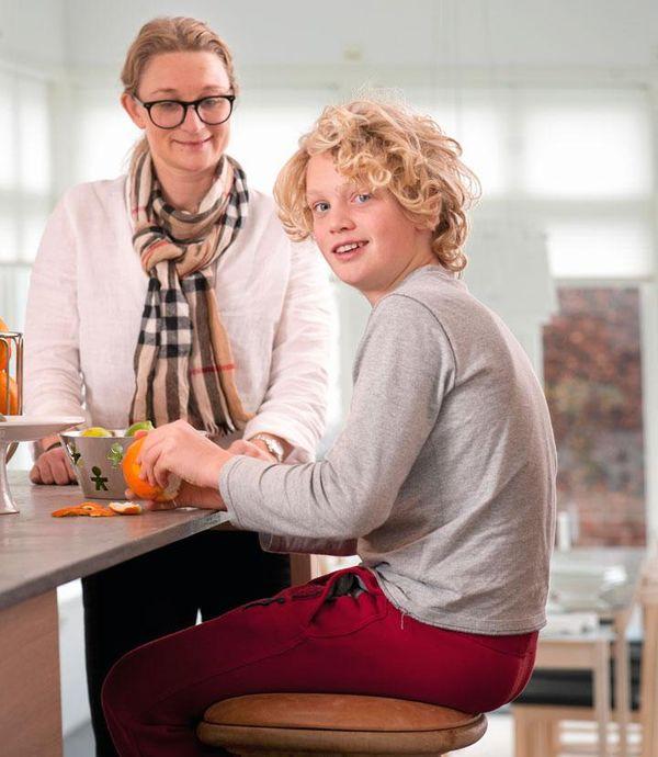 Hemtrevligt Kok : Namn AnnSofie med sonerna Erik, 16 or, och Carl, 12 or Och
