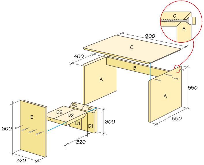 Skrivbord för barn  stabilt och snyggt  Hus & Hem