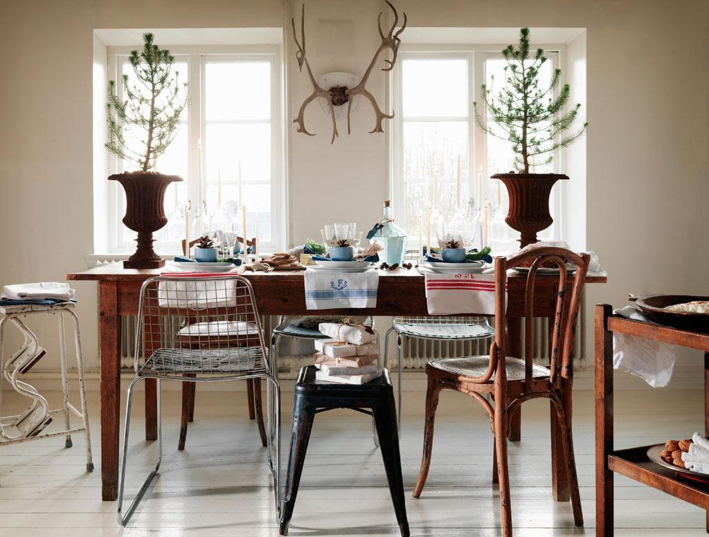 Metallstolar : Jul med naturlig charm hus amp hem