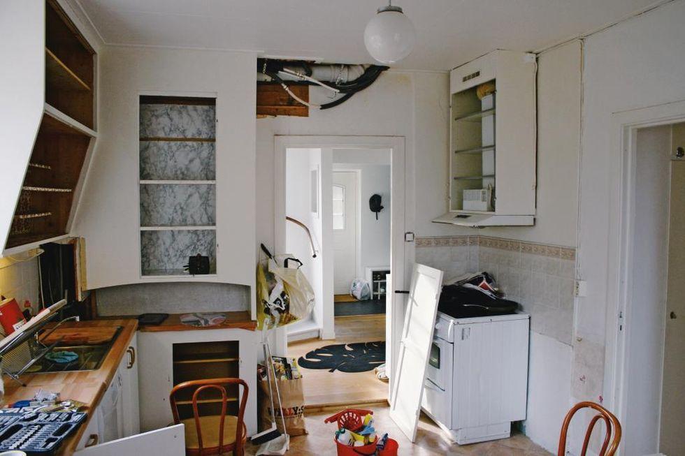 Blandare Kok Bauhaus : Fore Det gamla koket i 20talshuset var bode opraktiskt och slitet