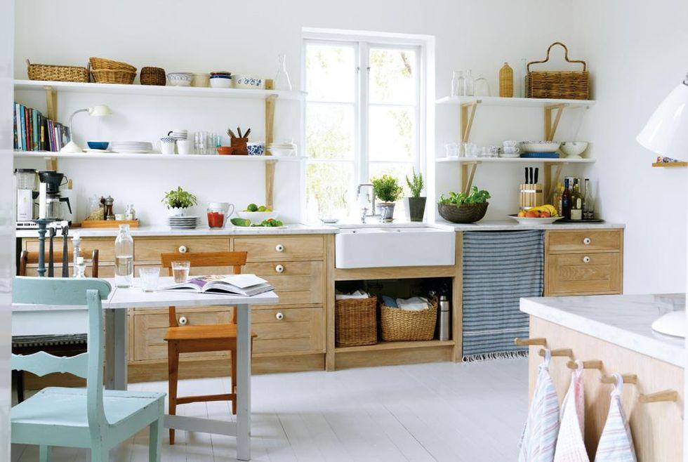 Ikea Kok Lantlig Stil : Koksinredningen, hyllorna och de nya fonstren or ritade och