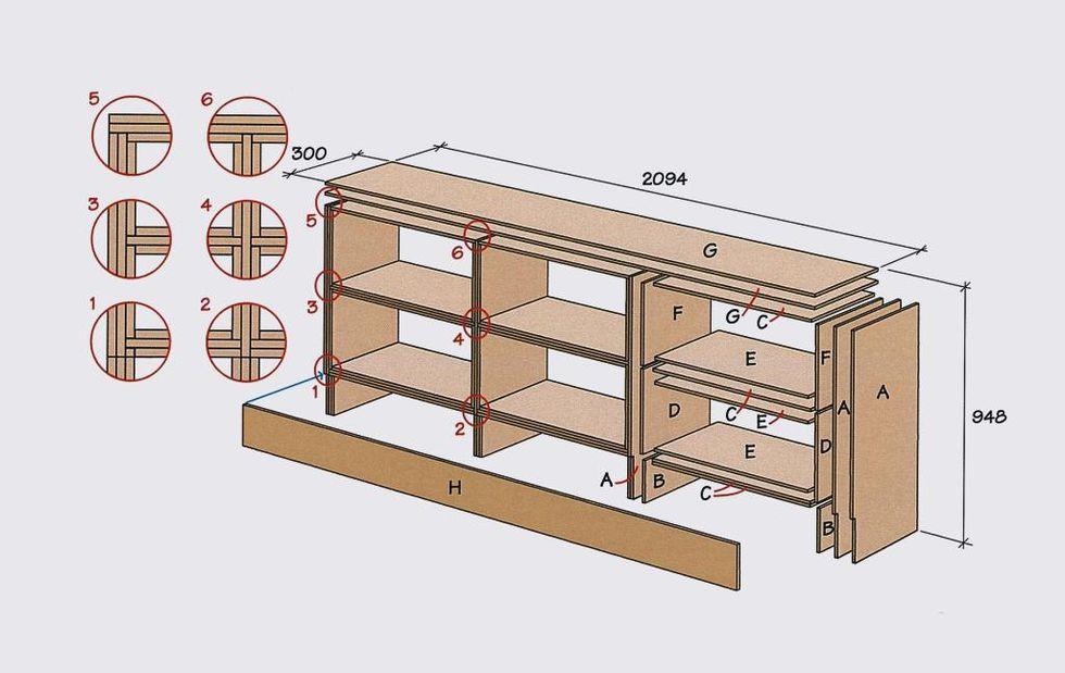 Bygg en hylla under snedtaket Hus& Hem
