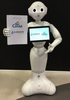 Robotar välkomnar kryssningspassagerare