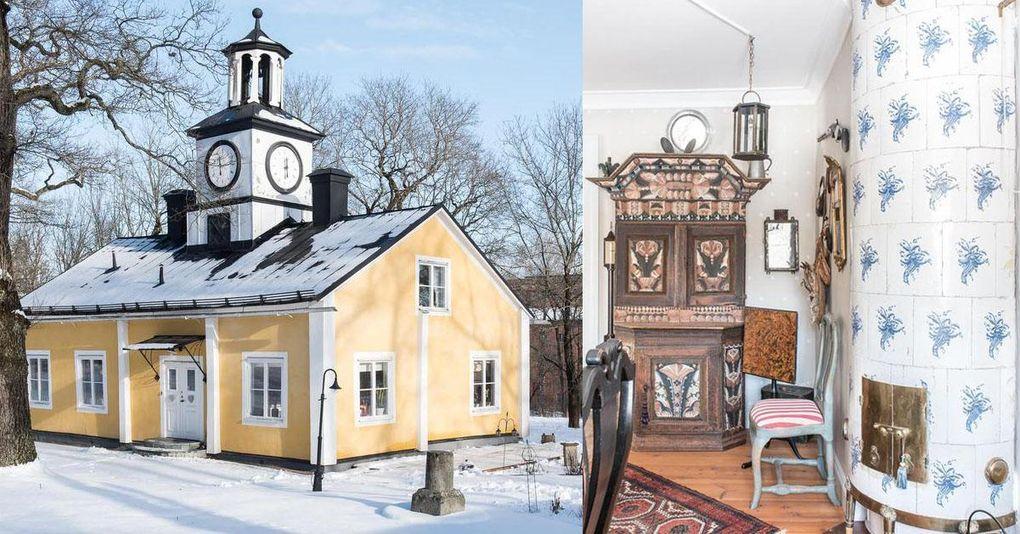 Villa med fem kakelugnar i herrgårdsmiljö – för under två miljoner