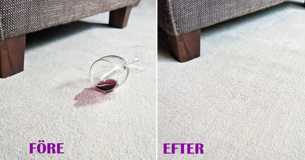 rödvin på matta