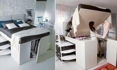 Den här kombinerade sängen och garderoben är lösningen för alla som bor litet