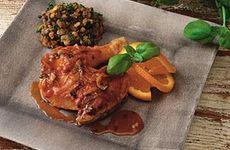 Kyckling med linsröra och citrussås