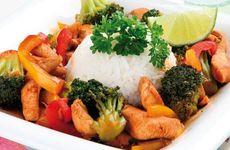 Kycklingwok med ris