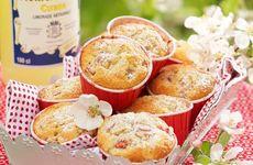 Mandelmuffins med rabarber