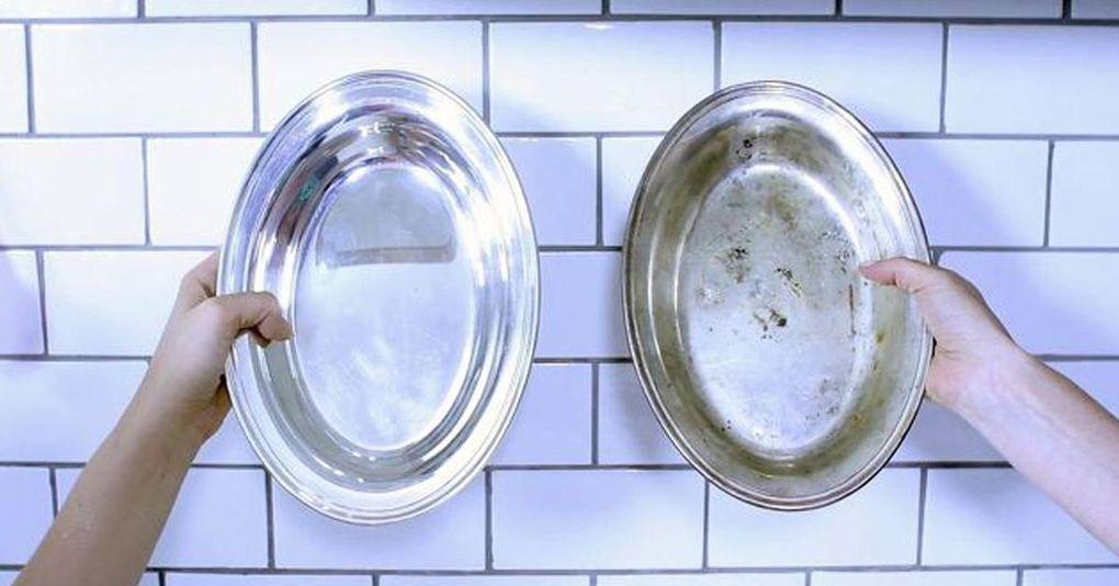 rengöra silver aluminiumfolie