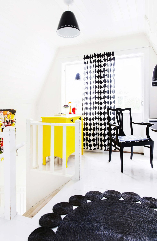 Veckans hem: Från träfärgad bastu till färgstark skärgårdspärla ... : golvskydd kamin : Inredning