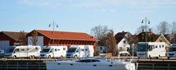 Härligt husbilsliv i Mariestads hamn