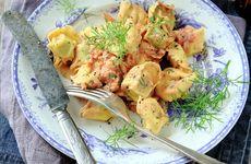 Färsk tortellini med kräftsås
