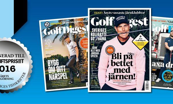Golf Digest nominerad till prestigefyllt pris