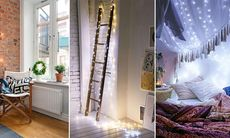 11 oväntade och fina sätt att inreda med ljusslingor