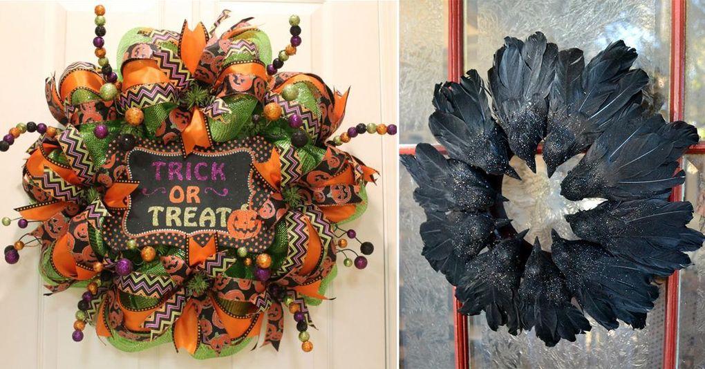 12 kreativa Halloweenkransar som du kan göra själv