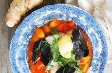 Fisksoppa med saffran och rouille