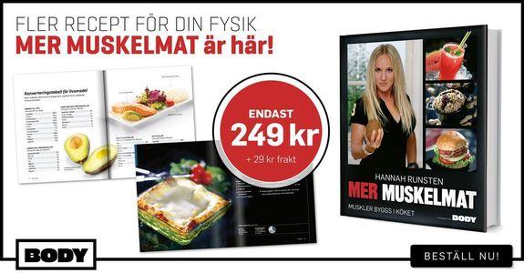 Kokboken Mer Muskelmat är här