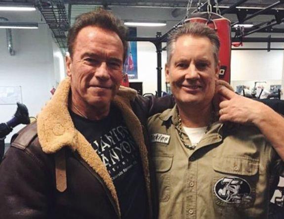 Arnold Schwarzenegger tränade på gym – i Kungsbacka