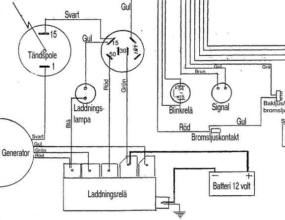 Tändspole till Saxonette med 12-voltssystem