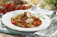 Kyckling med bönor och rostad paprika