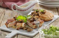Kycklingschnitzel med svampsås