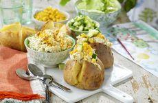 Bakad potatis med currykyckling