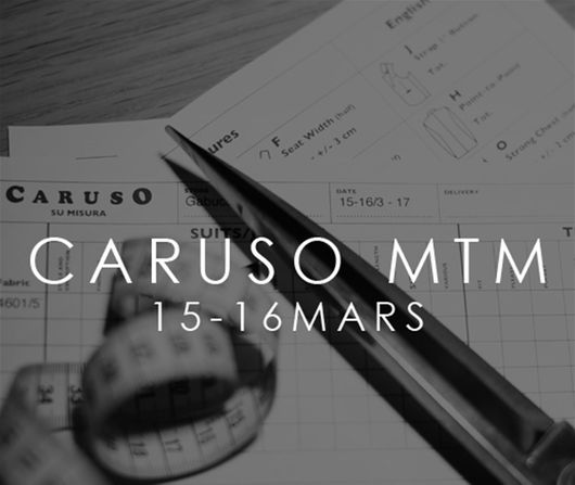 Caruso gästar Gabucci för Trunk Show den 15-16 mars