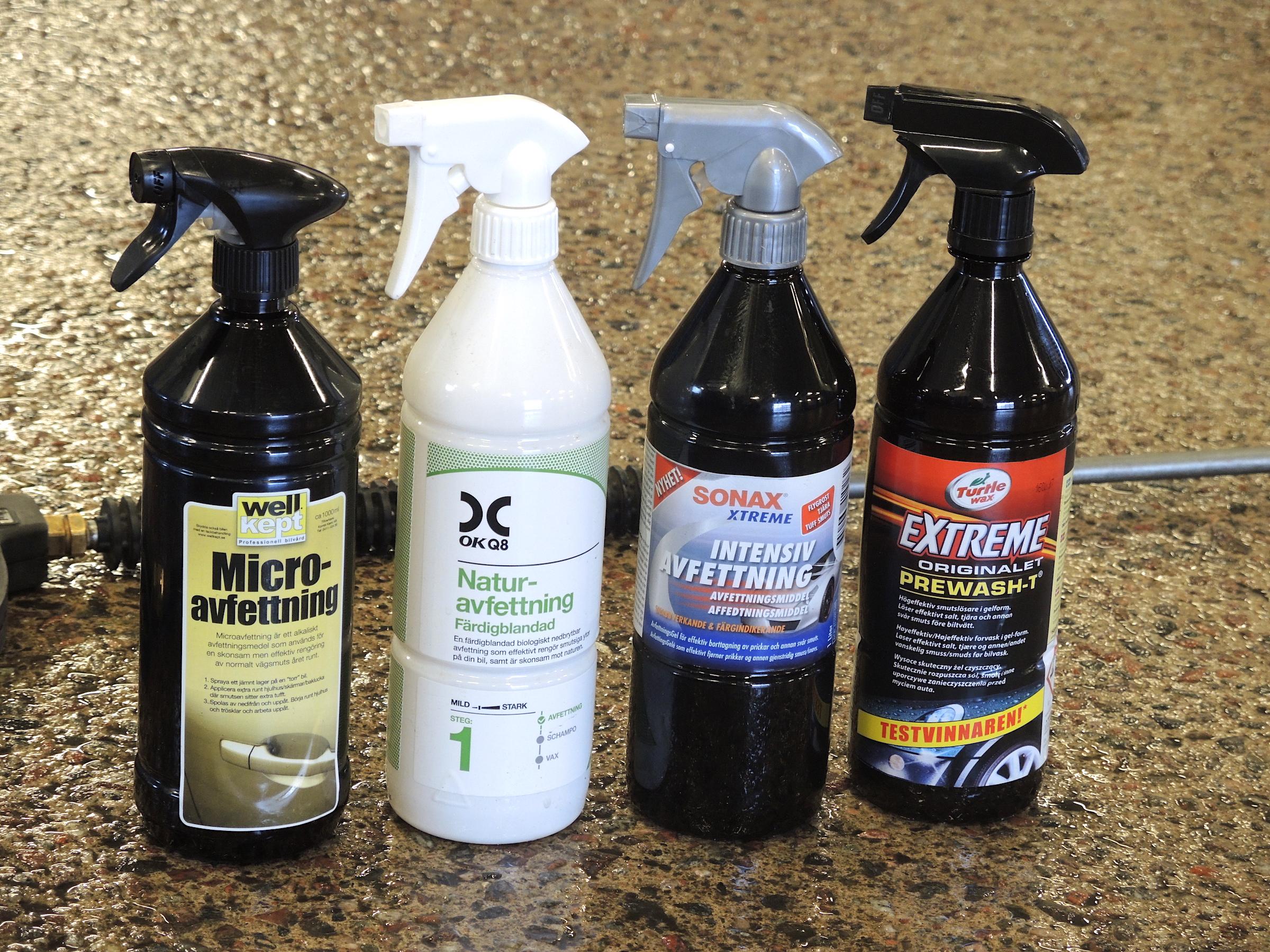 bra avfettningsmedel till bilen