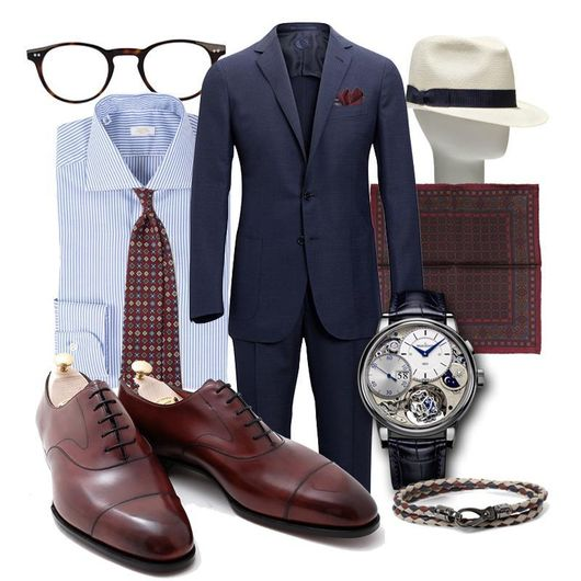 Fredagsinspiration - Blue & Burgundy