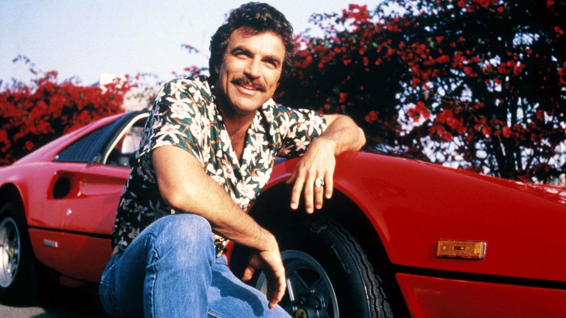 Tom Selleck som Magnum P.I.. Hawaiiskjorta ... b4c32a9dbc5ae