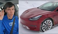 Engineering Explained testar Tesla Model 3 Performance på snö och is