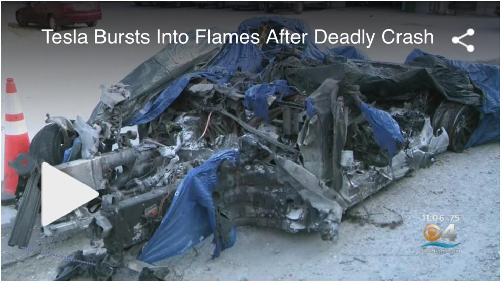 80f8a50711a9 Tesla Model S-förare dog i eldsvåda – dörrhandtagen gick inte att öppna