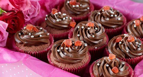 chokladmuffins med chokladglasyr