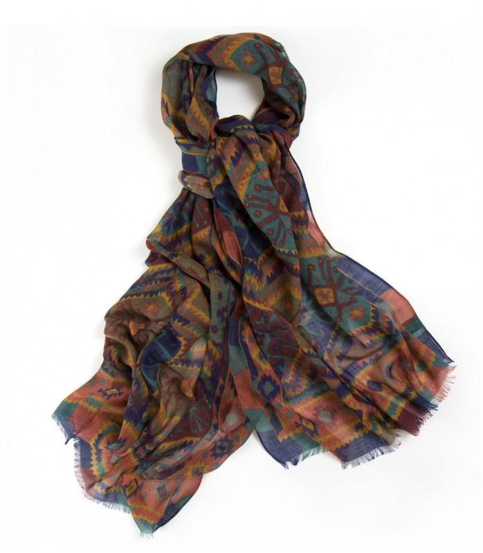 Drake´s klassiska Kelim print i ull- och silkesblandning. c5f770b144889
