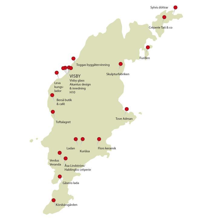 gotland karta sevärdheter Din designguide till Gotland   20 utflyktsmål – Hus & Hem gotland karta sevärdheter
