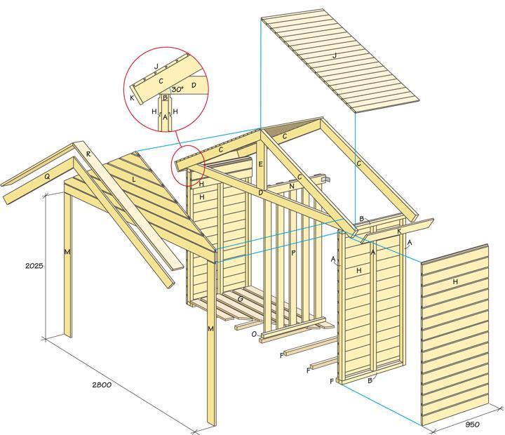 bygga förråd ritning