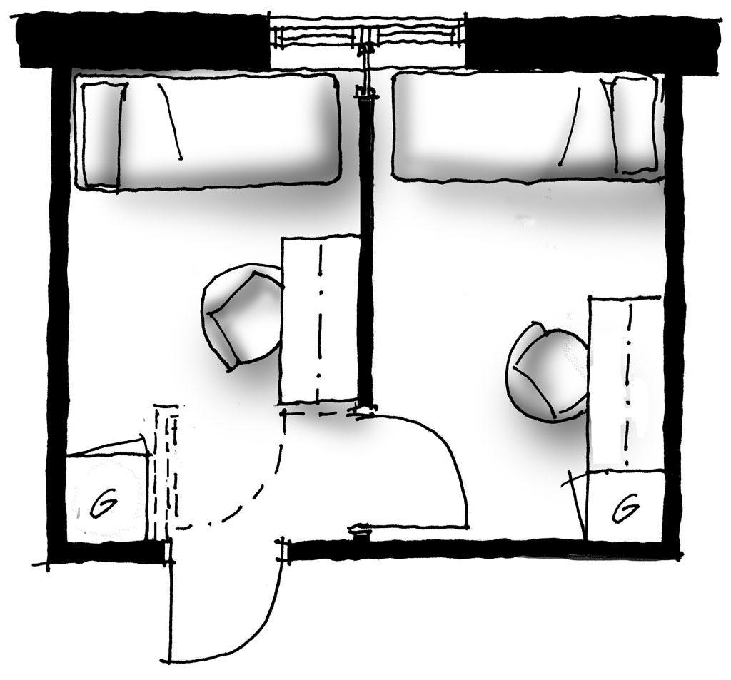 dela av rum