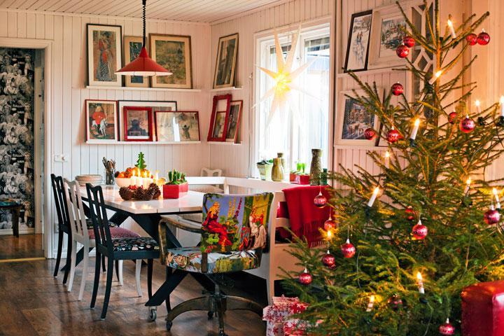 Traditionellt julhem med twist hus hem for Case arredate interni